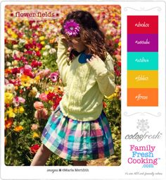 ColorFresh Color Palette #1 {Flower Fields} on FamilyFreshCooking.com ©Marla Meridith #bloom #pinparty
