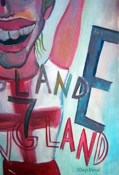 Beckham 2. Pintura sobre el futbol argentino a la venta del artista plastico Diego Manuel Rodriguez