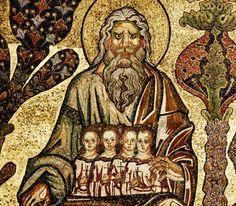 Mosaïques du Baptistère. Le jugement dernier : 27e Patriarche et les âmes des justes