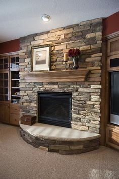 Basement Fireplace Design, Pictures, Remodel, Decor and Ideas - page 4