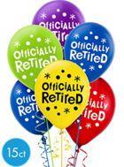 Happy Retirement Celebration Balloons 15ct