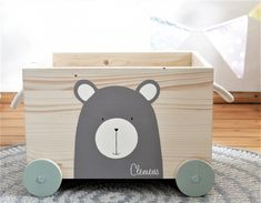 NI studio toy box bear with wheels Selling Handmade Items, Home Decor Quotes, Victorian Decor, Business Gifts, Toy Boxes, Cheap Home Decor, Decorative Accessories, Home Remodeling, Toy Chest