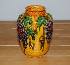 Vase with Grapes