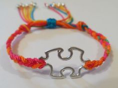 Autism Awareness Bracelet in Colorful Cord by MyleneV on Etsy, $10.00