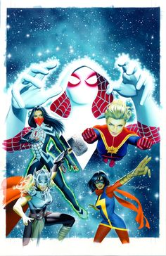 Secret Wars #1 Space Cadets variant cover by Mike Mayhew *