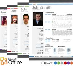 modern resume template for microsoft word office