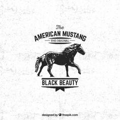 Badge mustang américain