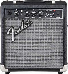 "Fender Frontman 10G Combo Amp The Frontman 10G delivers great tone at a fantastic price. And, with features like crunchy built-in overdrive (with Gain control) and 1/8"" jacks for audio input/headphone"