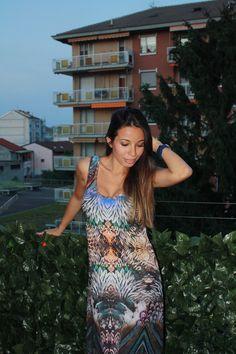 12outfit: Abito lungo Jessica Mura fashion blogger