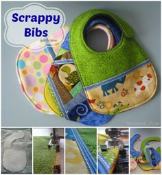Baby bibs made with scraps | The Sewing Loft