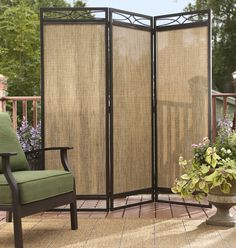 SCREEN STAR. Gain privacy in an instant wherever you need it with a freestanding folding screen that's easy to reposition.