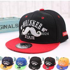 Купить товар2015 новый шлем милый усы шапки уличных хип хоп дети бейсболки хип хоп стиль, ребенок snapback фургоны в категории Бейсболкина AliExpress.