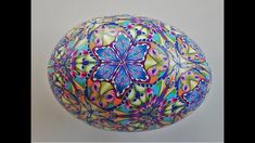 Covering a Goose Egg with Polymer Clay, using a Kaleidoscope Cane