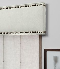 Kitchen window valance ideas nailhead trim 41 Ideas for 2019 Kitchen Window Valances, Window Cornices, Window Coverings, Window Treatments, Valences For Windows, Cornice Box, Cornice Boards, Box Valance, Valance Curtains