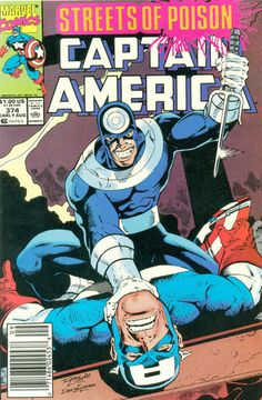 Cover for Captain America (Marvel, 1968 series) #374 [Direct Edition]