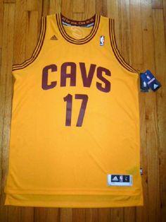 NEW adidas CLEVELAND CAVS Basketball Jersey NBA #17 VAREJAO Swingman Gold $99 L #adidas #ClevelandCavaliers