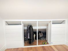 The best under-eaves wardrobe hack yet- Under-eaves wardrobe IKEA METOD hack -. The best under-eaves wardrobe hack yet- Under-eaves wardrobe IKEA METOD hack - wardrobe. Eaves Bedroom, Attic Bedroom Storage, Attic Bedroom Designs, Attic Bedroom Small, Attic Bedrooms, Closet Bedroom, Bedroom Decor, Ikea Hack Bedroom, Eaves Storage