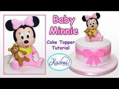How to make Baby Minnie Mouse (Cake Topper) / Cómo hacer a Minnie Bebé para tortas - YouTube