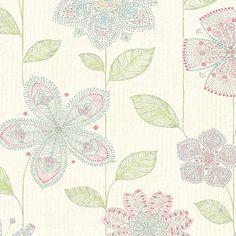 Kismet Maisie Batik 10.05m x 52cm Floral Roll Wallpaper