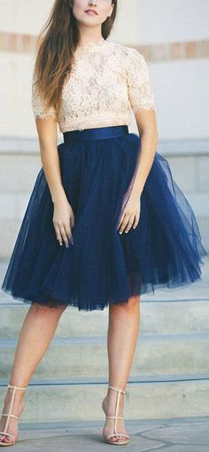 The best part about this outfit is the cute tulle skirt