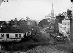 Historic pic of Warrenton, VA. The court house is still right there today.