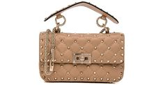 "Image result for valentino ""camel rose"" rockstud small shoulder"