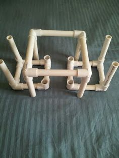 """adventureswithahrens.blogspot.com  Check out my free, original tutorial for the 18"""" doll PVC pipe table and chair set!"""