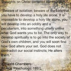 Oswald Chambers on Christian community