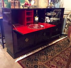 "Fabulous, Greatly Built Console Bar   72"" Wide x 16"" Deep x 42"" High   $2675  Dealer #757  Lost. . .Antiques 1201 N. Riverfront Blvd. Dallas, TX 75207  Monday - Saturday: 10am - 5pm Sunda"