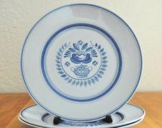 arabia finland blue rose dinner plates