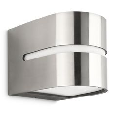 Litecraft Philips Hazel Stainless Steel outdoor up and down wall light- at Debenhams.com