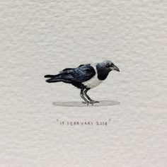 Check out these coin-sized paintings by miniaturist Lorraine Loots for her long running projects called Paintings for Ants and Postcards for Ants. Detailed Paintings, Mini Paintings, Miniature Paintings, Graphic Design Tips, Graphic Design Inspiration, Graphic Designers, Crow Painting, South African Artists, Small Art