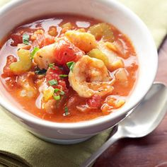 Italian Fish Stew --- This fish and shrimp stew is often served over ...