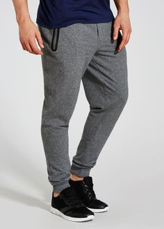 Souluxe jogging bottoms in grey with a heat-seal pocket to the front. These stylish slim fit joggers have a draw string adjuster waist. Slim Fit Joggers, Jogging Bottoms, Matalan, Men Clothes, Sport Pants, Athletic Wear, Sportswear, Sweatpants, Gym