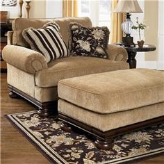 overstuffed chairs and ottomans | For the Home | Pinterest ...