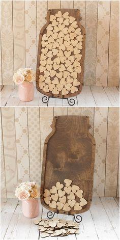 Mason Jar Guest Book Wedding Guestbook Alternative Mason Jar Wedding