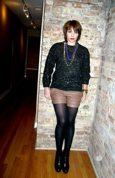 leather shorts and lots o baubles