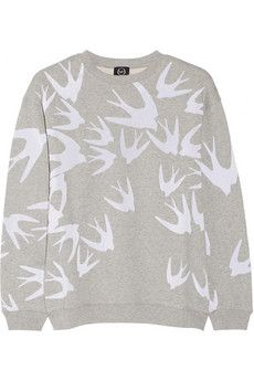 McQ Alexander McQueen Flocked cotton sweatshirt | THE OUTNET
