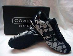 black coach tennis shoes-want um,got um, good! Coach Tennis Shoes, Tennis Shoes Outfit, Coach Sneakers, Coach Shoes, Shoes Sneakers, Cute Shoes Boots, Me Too Shoes, Shoe Boots, Fashion Sandals