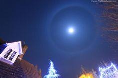 Hermoso halo lunar. Cookstown, Co.