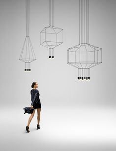 3 wireflow immaterial sculptural lights by arik levy for vibia Wireflow…