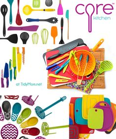 I want to add color and function to my kitchen with Core Kitchen Tools at TidyMom.net