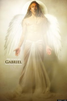 """St Gabriel the Archangel, from """"Icons Of The Bible"""" by James C. In Brazil, St Gabriel is sometimes associated with Eshu, Divine Messenger. Blacks In The Bible, Orishas Yoruba, Using People, Black Jesus, I Believe In Angels, Black Art Pictures, Black Angels, Biblical Art, African American Art"""