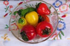 ALEGRE FRUTERO CON 7 FRUTAS DE CRISTAL DE MURANO Stuffed Peppers, Vegetables, Food, Fruit, Murano Glass, Crystals, Fighter Aircraft, Stuffed Pepper, Essen