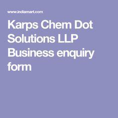 Karps Chem Dot Solutions LLP Business enquiry form