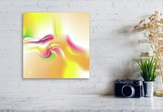 VIVIDAEE Abstract Art Print on Canvas Digital Art Fine