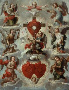 Alegoría Eucarística con los 7 arcángeles, Miguel Cabrera, Museo Andrés Blaisten, Cdad. de México, D.F.