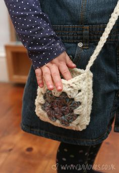 Crochet - leftovers.  A small crochet project...I really do need to figure out how to granny square...this is adorable!