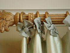 little rosettes on draperies