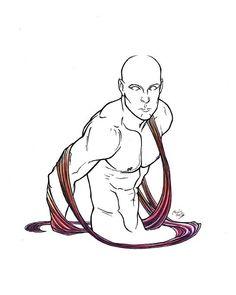 En el agua Tiralíneas y acuarela / In water Drawing pen and watercolor #man #esculture #watercolor #drawing #ilustracion #illustration #dibujo #naked #line #trazos #body #human #figure #figura #humana